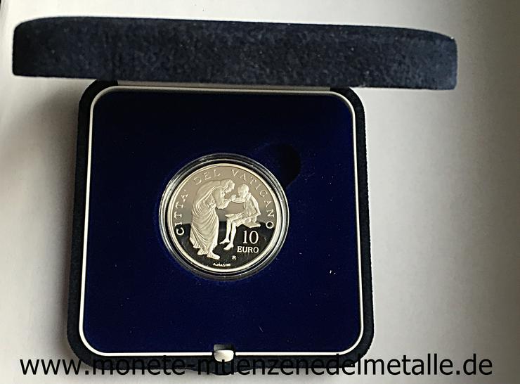 Bild 2: Vatikan 10 Euro Weltmessionstag 2007 Silber Münze