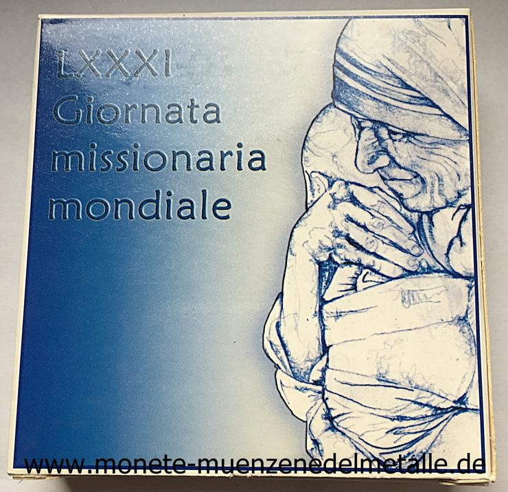 Bild 4: Vatikan 10 Euro Weltmessionstag 2007 Silber Münze