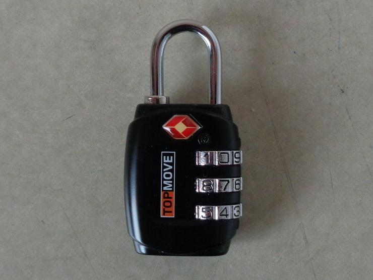schwarzes TSA-Metallbügel-Zahlenschloss für Gepäckstücke und vieles andere