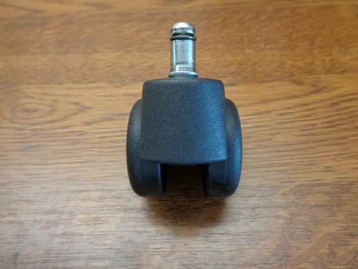 Bild 4: 5er-Satz Stuhlrollen (mit 11mm-Befestigungsbolzen) für weiche Böden