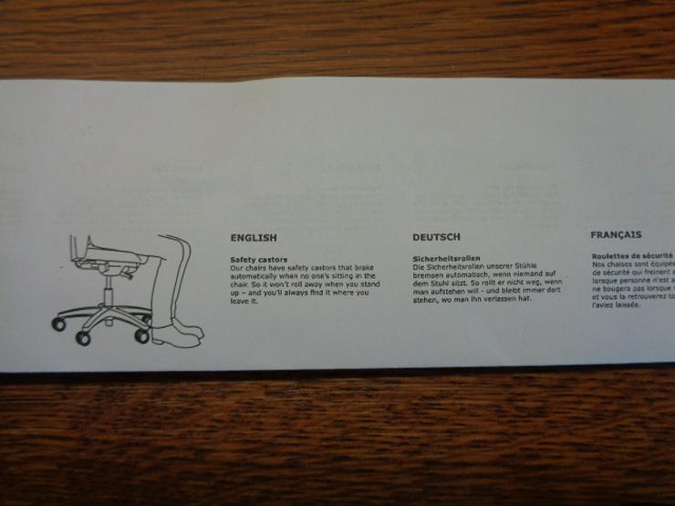 Bild 6: 5er-Satz Stuhlrollen (mit 11mm-Befestigungsbolzen) für weiche Böden