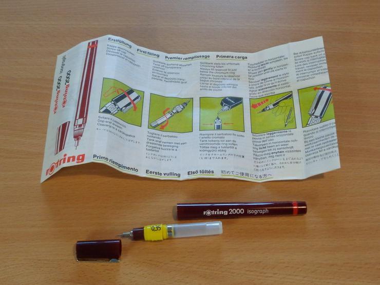 Bild 5: 3x Rotring Isograph Tuschefüller 0,35mm (nach DIN ISO 9175) =NEU=