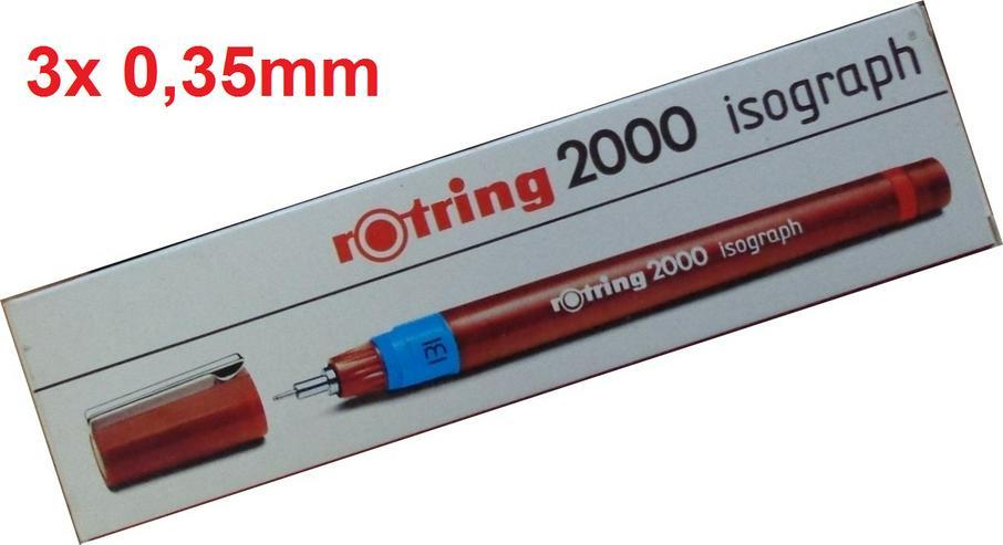 3x Rotring Isograph Tuschefüller 0,35mm (nach DIN ISO 9175) =NEU= - Weitere - Bild 1
