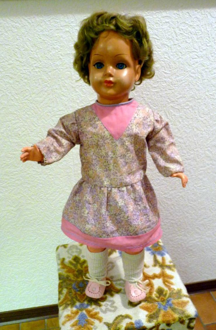 S 3 Puppe 60 cm hoch , Zelluloid