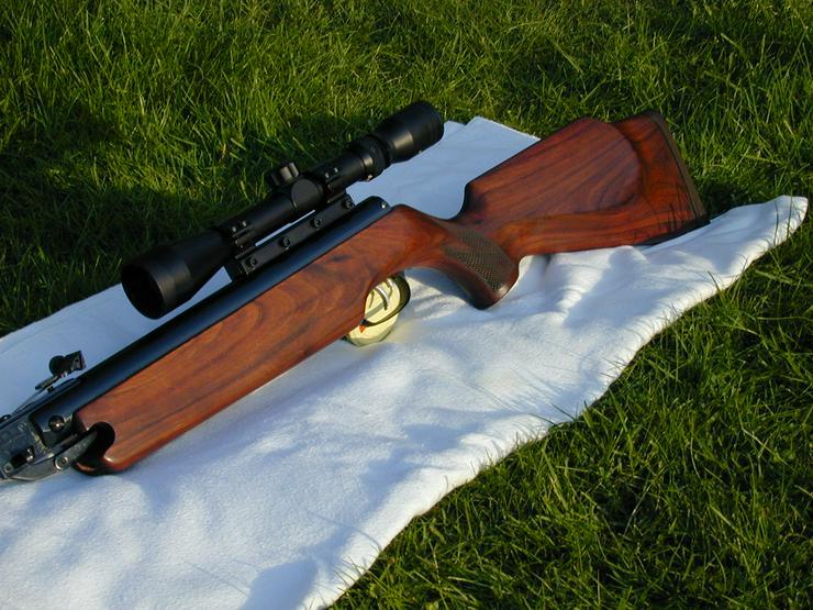 Luftgewehr weihrauch hw k mit schalldämpfer und zielfernrohr