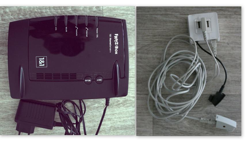 1 & 1  Heim Router mit Zubehör,  siehe Foto