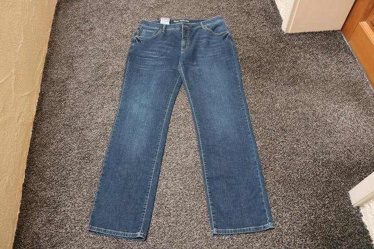 Jeans m. Used-Effekten, Gr. 44L33, Colac, blau