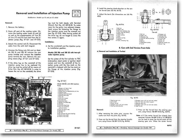 Bild 4: Mercedes 108 109 110 Heckflosse 111 113 SL Pagode Reparatur Service WIS CD