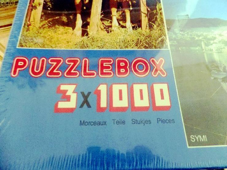 Originalkarton mit 3 Puzzles á 1000 Teile - Puzzles - Bild 1