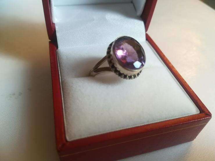 Ring Amethyst und Silber 925  - Ringe - Bild 1
