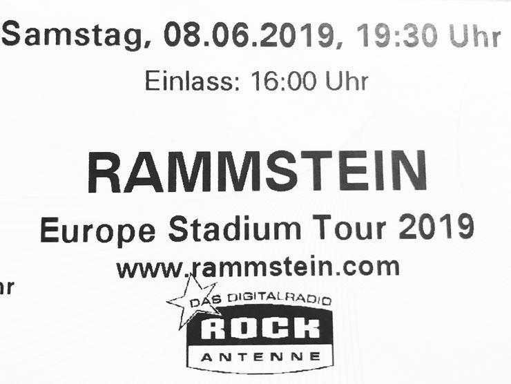 RAMMSTEIN Ticket Olympiahalle München 8.6.2019 - Umschreibung Umpersonalisierung