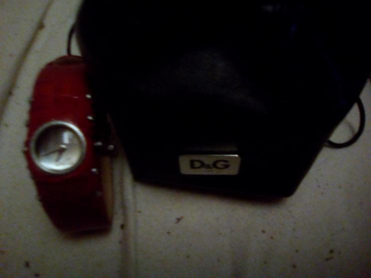 D&G Dolce&Gabbana Damen-Armbanduhr COTTAGE IPG SLV DIAL Red STRAP DW0352