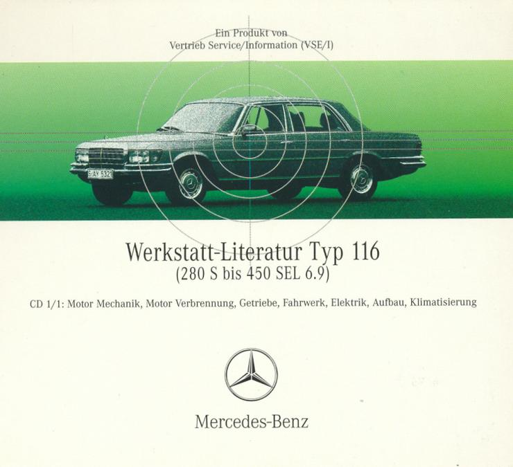 Bild 2: Mercedes 116 W116 - S-Klasse SE SEL Werkstatt Reparatur Service Profi CD 1972-1980 Neueste Ausgabe!