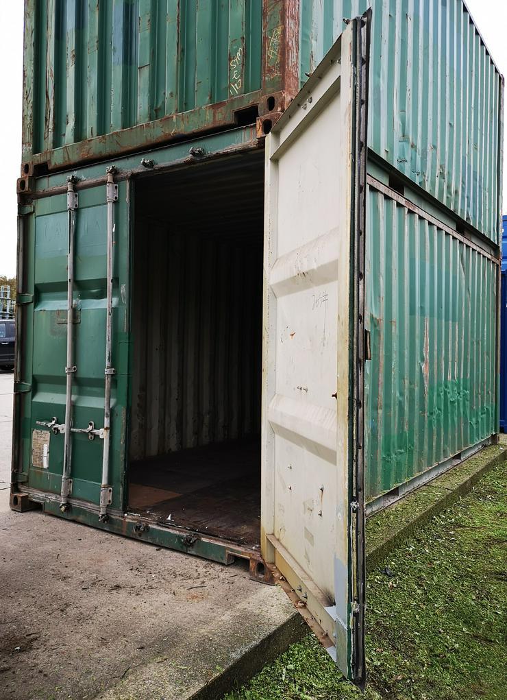 Seecontainer als Reifenlager