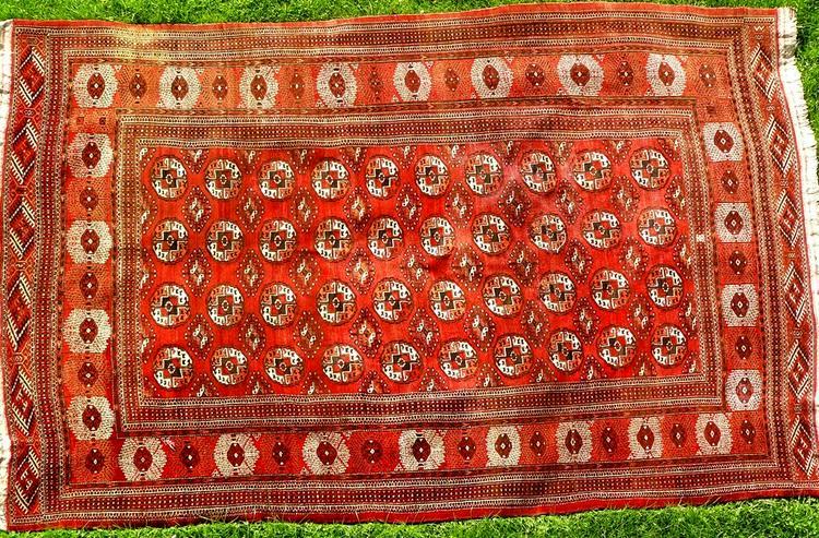 Orientteppich, russischer Buchara, antik, 325x206 (T074)