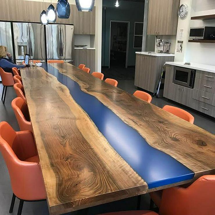 Tisch aus Eiche, Nussbaum, Esche. 1 m2 ab 550 €. Aus der Ukraine. Mondscheinpfad, Morgenwasserfall oder Sternenschein - Armaturen & Spülen - Bild 1
