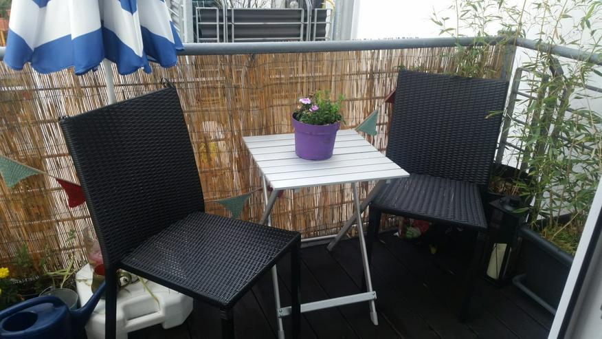 Bild 2: 2 Balkonstühle / Gartenstühle Kunstrattan
