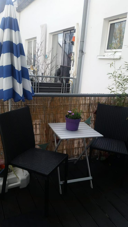 2 Balkonstühle / Gartenstühle Kunstrattan