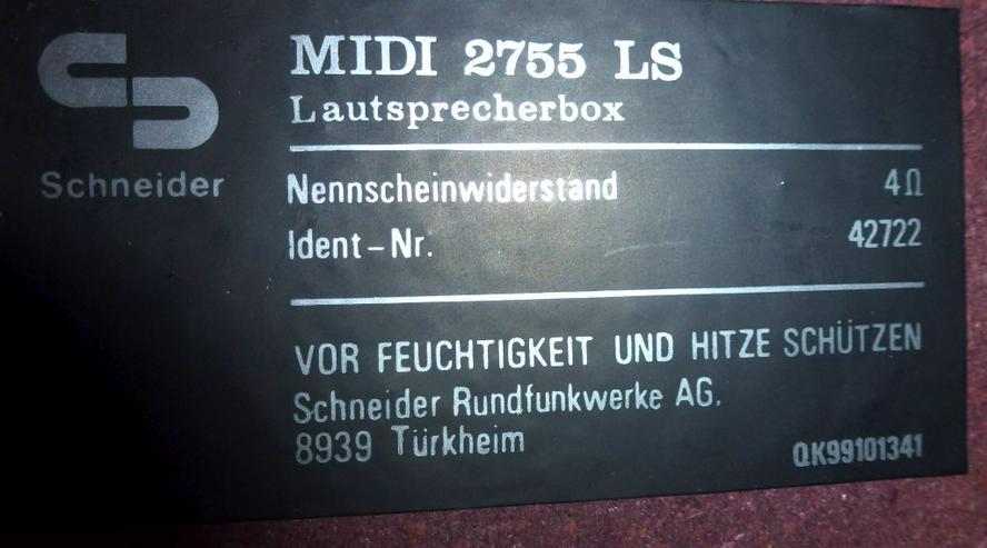 Bild 4: Zwei Lautsprecherboxe  MIDI 2755 LS