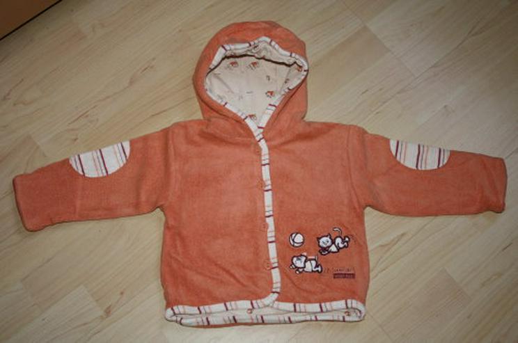 Baby Jacke gefüttert Mädchen Sweatjacke Kapuze dick Hoodie 74 NEU