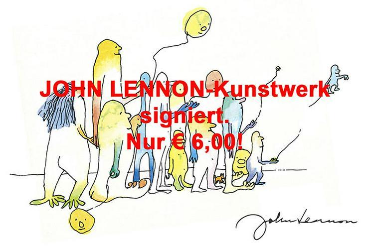 JOHN LENNON Souvenir Deko Design Geschenk Trinkbecher Sofakissen T-Shirt Handtasche Bild Wanduhr Selfie Lifestyle