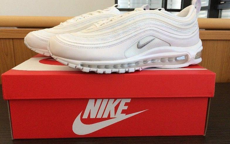 Nike Air Max 97 Triple White Wolf grey Snake Skin Sneaker Schuhe