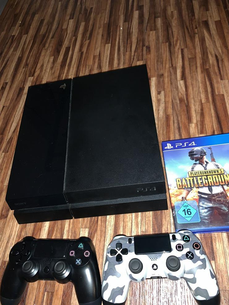 PS4 mit 2 Controller und 1 Spiel PUBG - PlayStation Konsolen & Controller - Bild 1