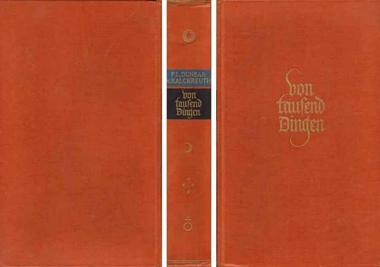 Buch von F. L. Dunbar-von Kalckreuth - Von tausend Dingen - 1937