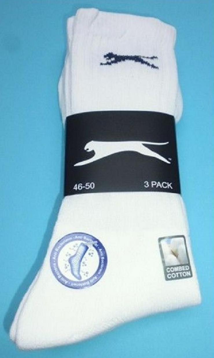 3 Paar Herren-Tennis-Sport-Socken Größe 46-50 Weiß