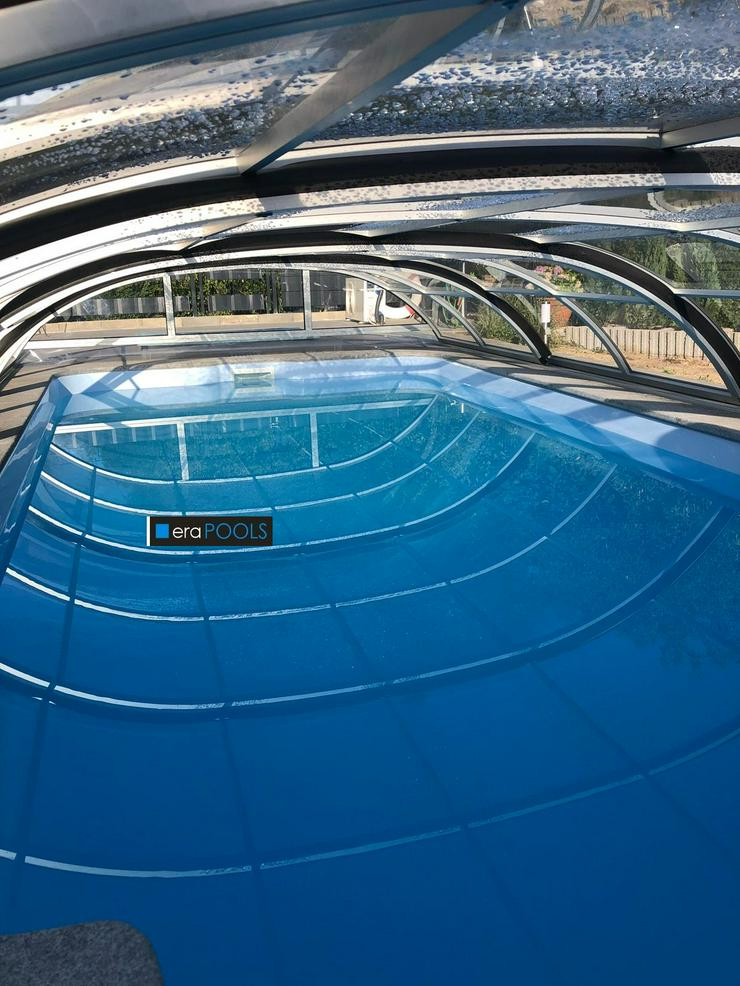GFK Pool Ueberdachung Smart 10m Abdeckung extra Schienen+ Gratis