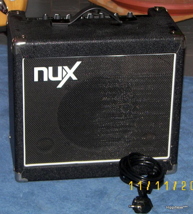 Verkaufe nuX MIGHTY 15 DFX Gitarrenverstärker mit Digitaleffekten
