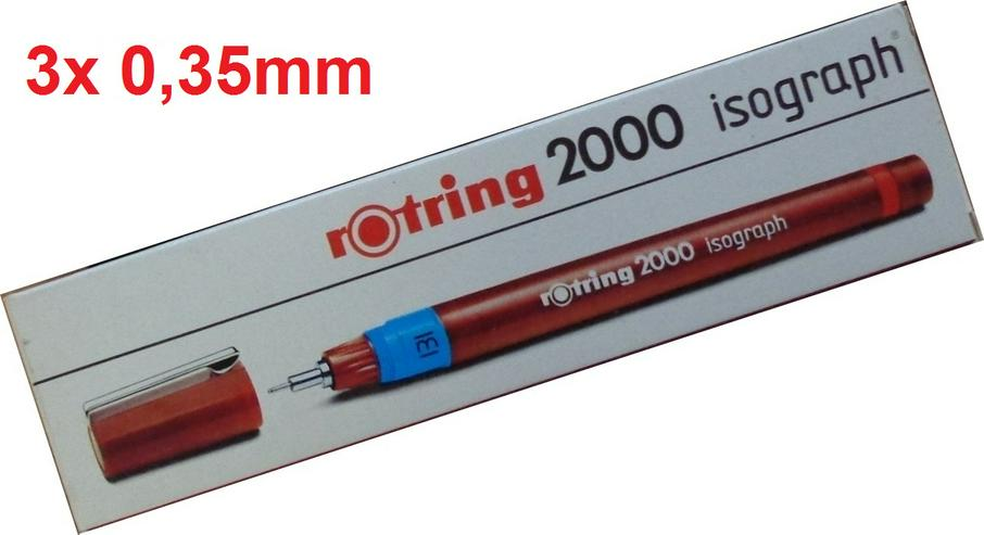 3x Rotring Isograph Tuschefüller 0,35mm (nach DIN ISO 9175) =NEU=