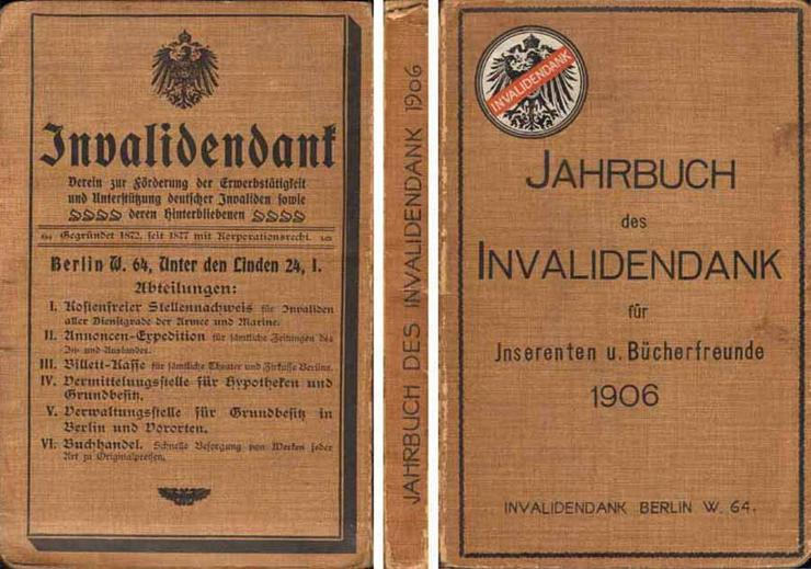Jahrbuch des Invalidendank für Inserenten und Bücherfreunde 1906