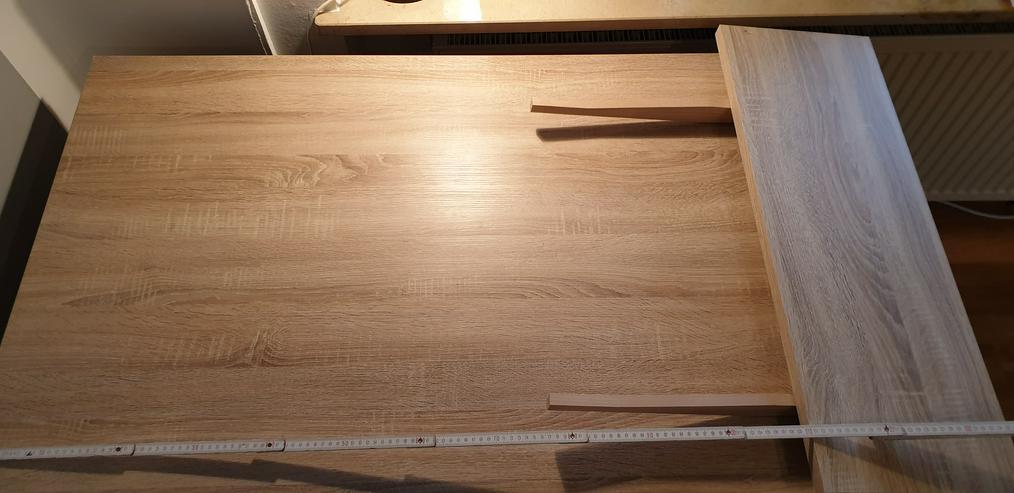 Bild 2: Ecksofa (Couch) + Wohnwand + Sideboard + Tisch + Schwingstühle