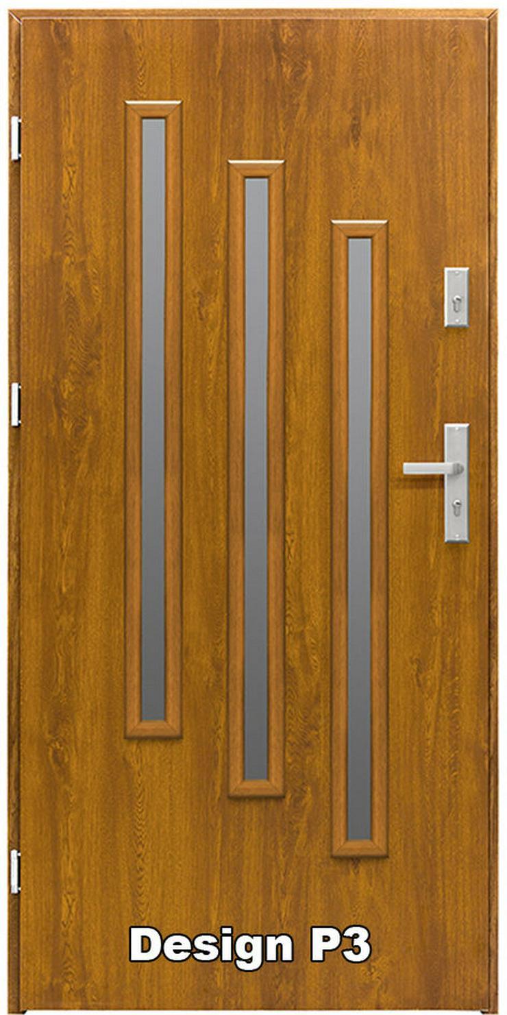 Bild 3: Haustür P1/P2/P3/P4 Eingangstür Stahltür Tür 80 90 100 Breite 5 Farben weiß