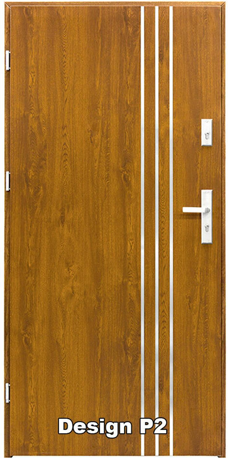 Bild 2: Haustür P1/P2/P3/P4 Eingangstür Stahltür Tür 80 90 100 Breite 5 Farben weiß