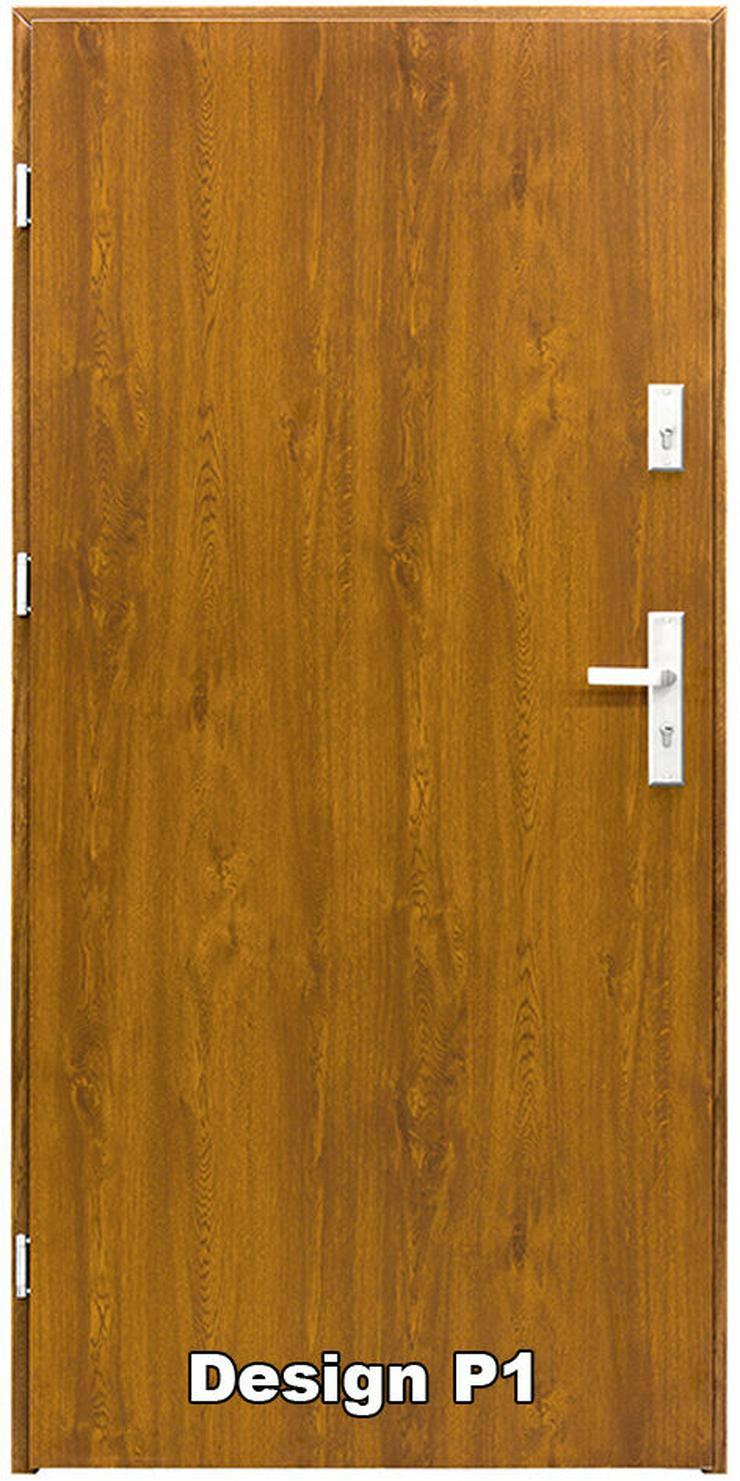 Haustür P1/P2/P3/P4 Eingangstür Stahltür Tür 80 90 100 Breite 5 Farben weiß  - Türen - Bild 1