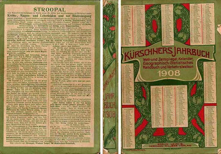 Kürschners Jahrbuch 1908 - herausgegeben von Hermann Hillger
