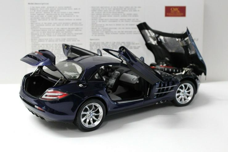 Bild 5: CMC Mercedes SLR McLaren 1:12 2003 dark blue C-006D NEW bei PREMIUM-MODELCARS