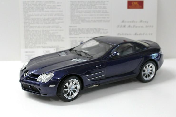 Bild 2: CMC Mercedes SLR McLaren 1:12 2003 dark blue C-006D NEW bei PREMIUM-MODELCARS
