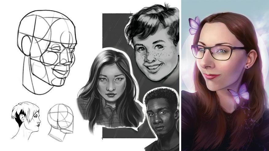 Online-Zeichenkurs Digital Porträts Zeichnen für Anfänger und Fortgeschrittene – Das besondere Weihnachtsgeschenk - Geschenke & Erlebnisse - Bild 1