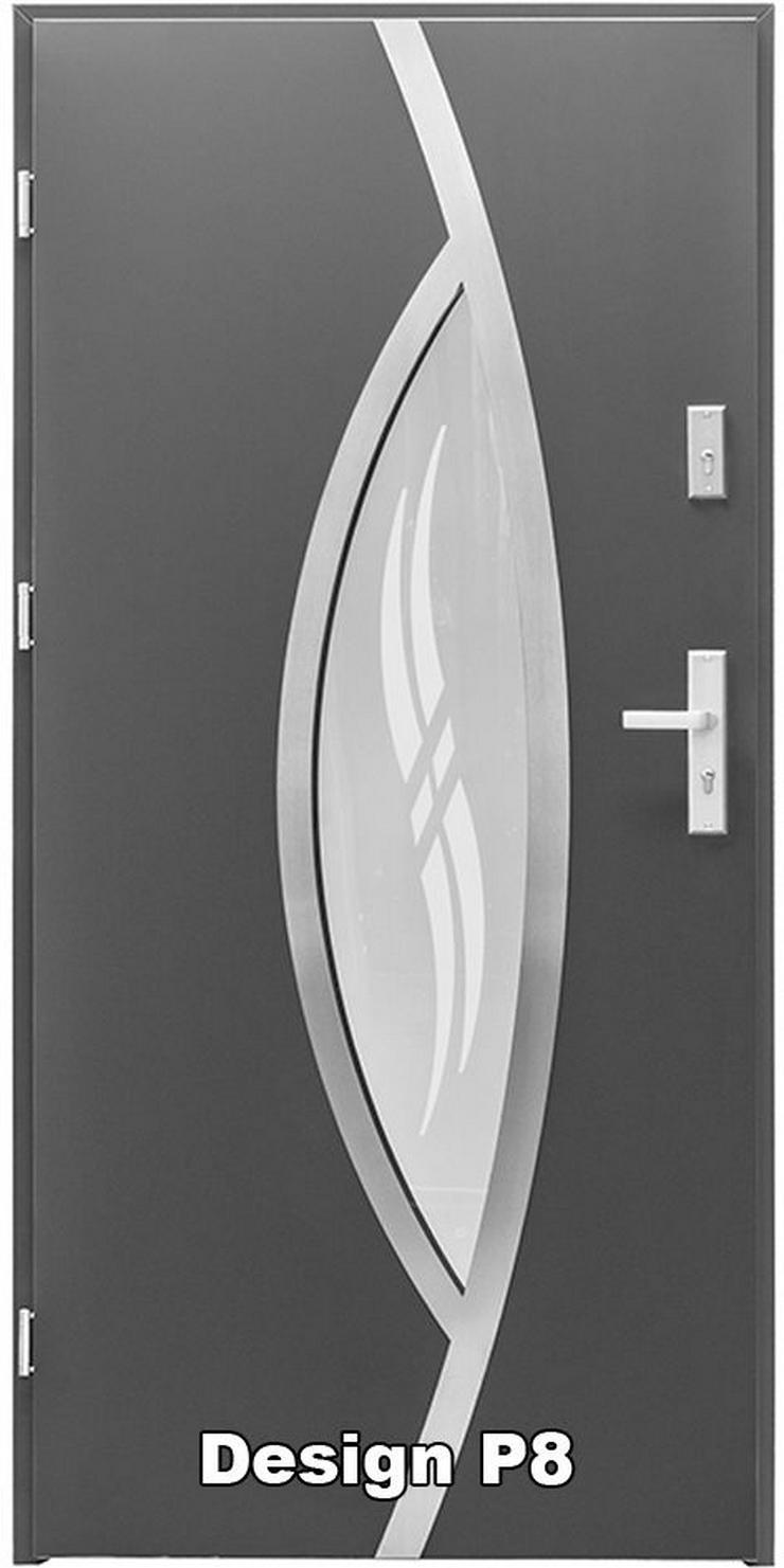 Bild 5: Tür Haustür P5/P6/P7/P8 Eingangstür Stahltür 80/90 ID Design 5 Farben weiß