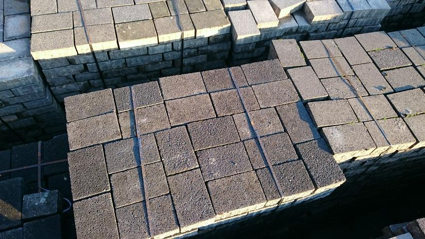 Bild 2: Pflastersteine Farbe grau+anthrazit- gebraucht-große Mengen