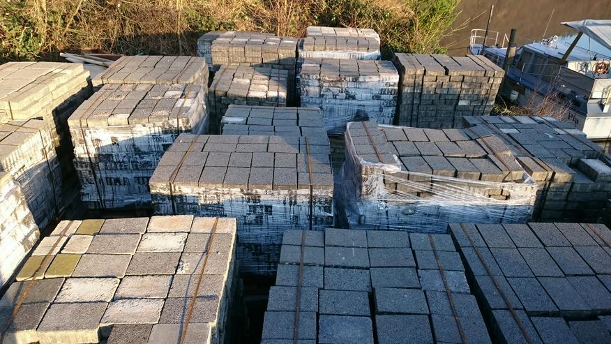 Bild 4: Pflastersteine Farbe grau+anthrazit- gebraucht-große Mengen