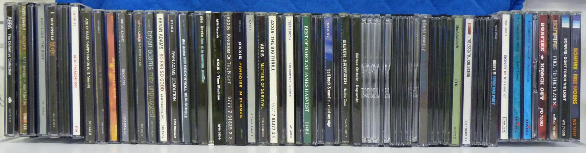 CD-Sammlung Rock und Metal