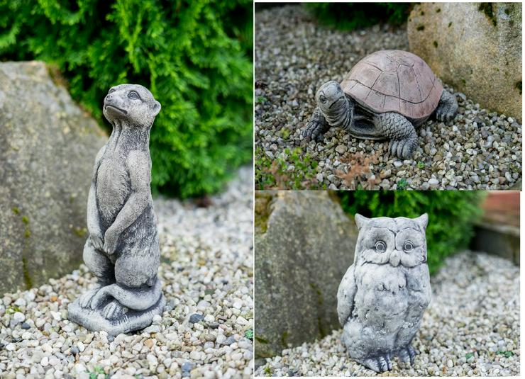 Steinfigur Eule Erdmännchen Schildkröte Betonfigur Frostfest