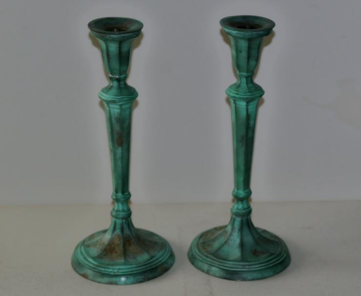 Kerzenständer - Messing - ca. 28 cm hoch - appart und dekorativ - 1 Paar (2 St.) - Kerzen & Kerzenständer - Bild 1