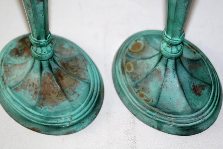 Bild 2: Kerzenständer - Messing - ca. 28 cm hoch - appart und dekorativ - 1 Paar (2 St.)