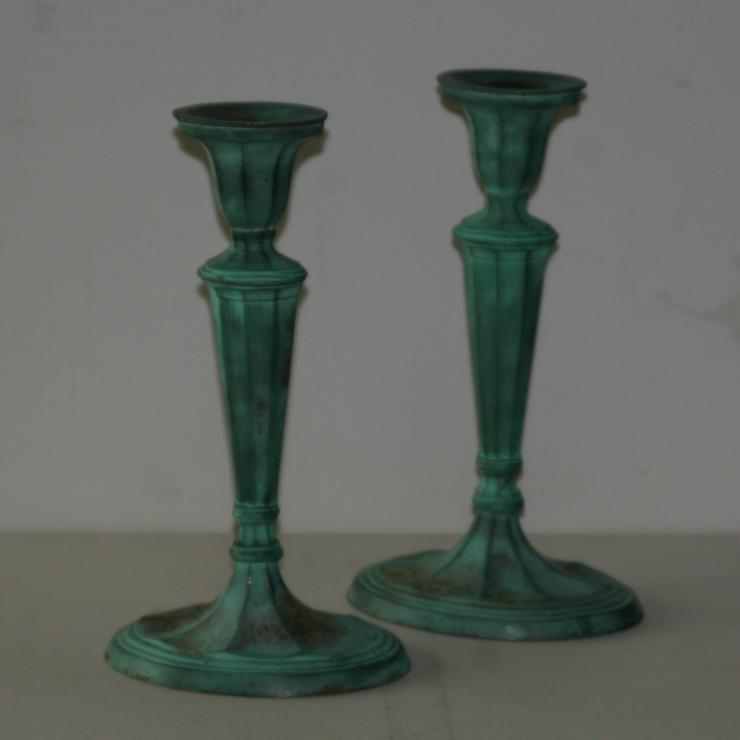 Bild 3: Kerzenständer - Messing - ca. 28 cm hoch - appart und dekorativ - 1 Paar (2 St.)