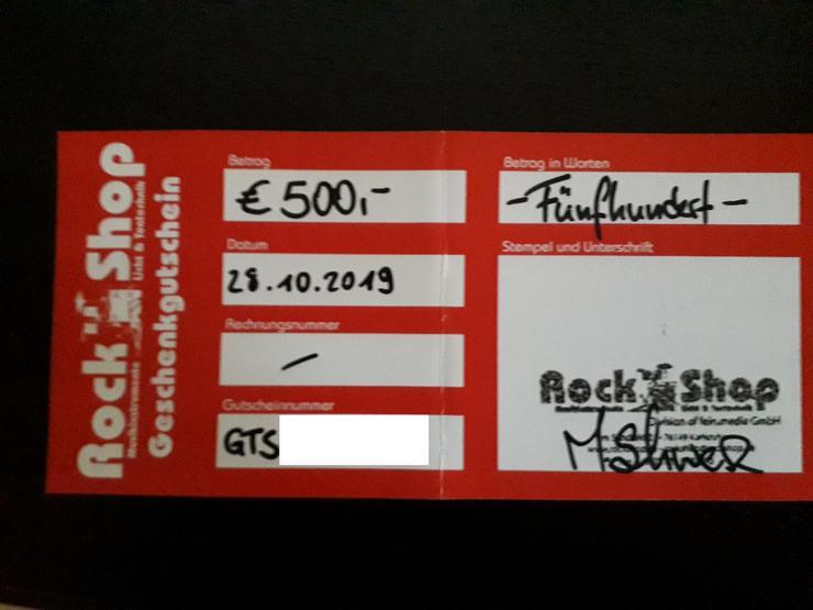 500€ Gutschein vom Rockshop KA